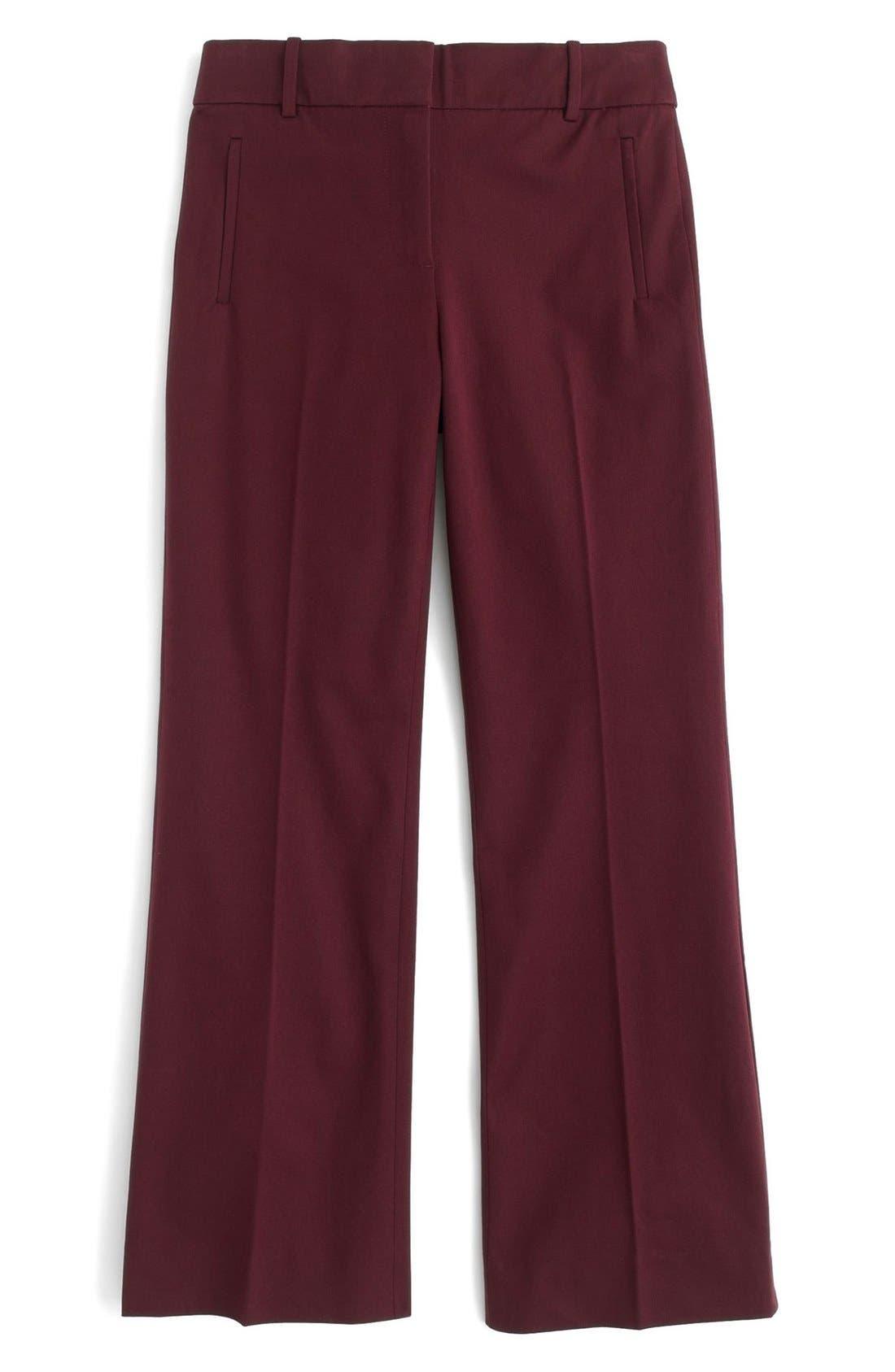 Alternate Image 3  - J.Crew 'Teddie' Bi-Stretch Cotton Blend Pants (Regular & Petite)