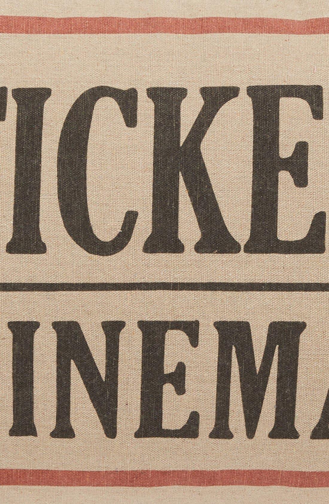 Alternate Image 3  - Levtex 'Cinema Ticket' Accent Pillow