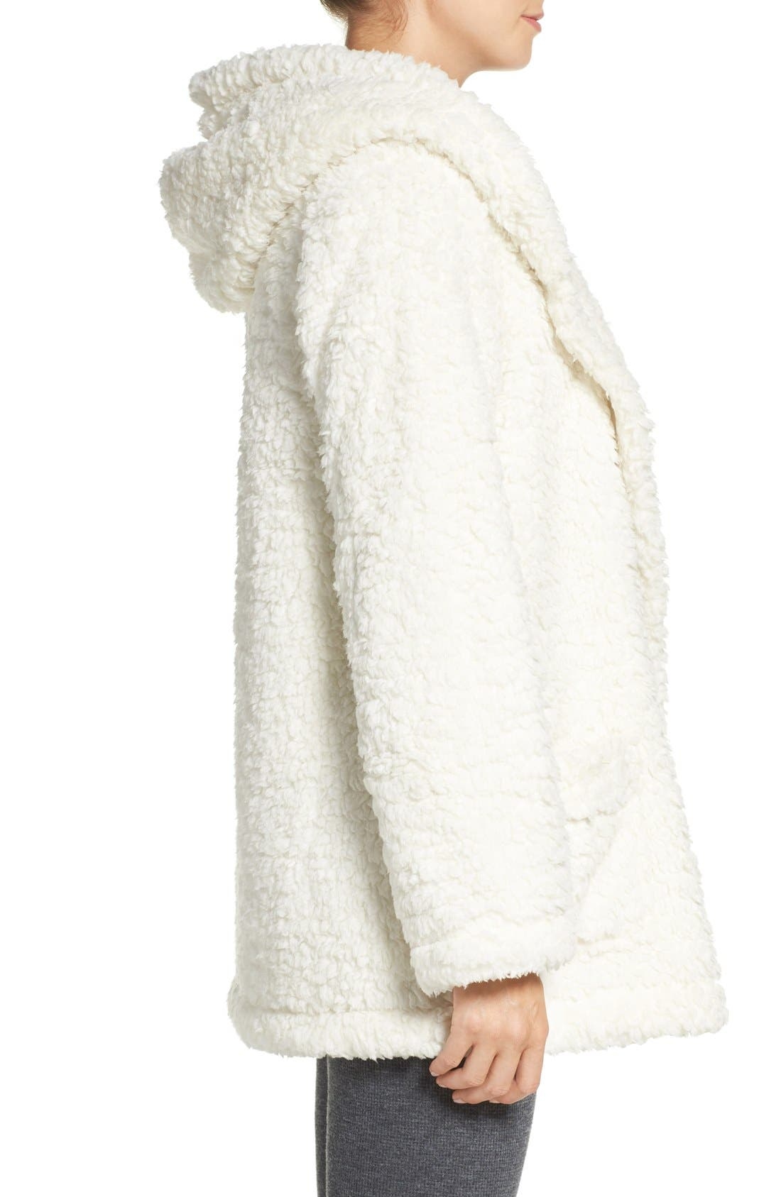 Alternate Image 3  - Make + Model 'Oh So Cozy' Hooded Cardigan