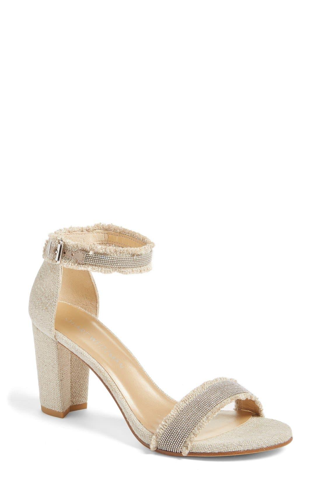 Alternate Image 1 Selected - Stuart Weitzman 'Chaingang' Ankle Strap Sandal (Women)