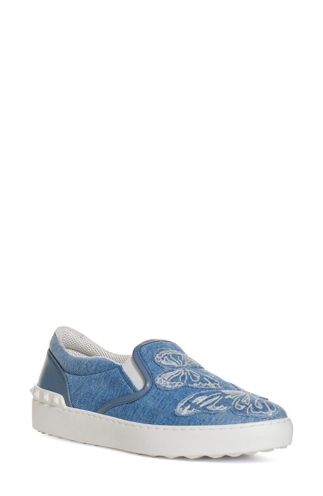 VALENTINO Butterfly Appliqué Skate Sneaker