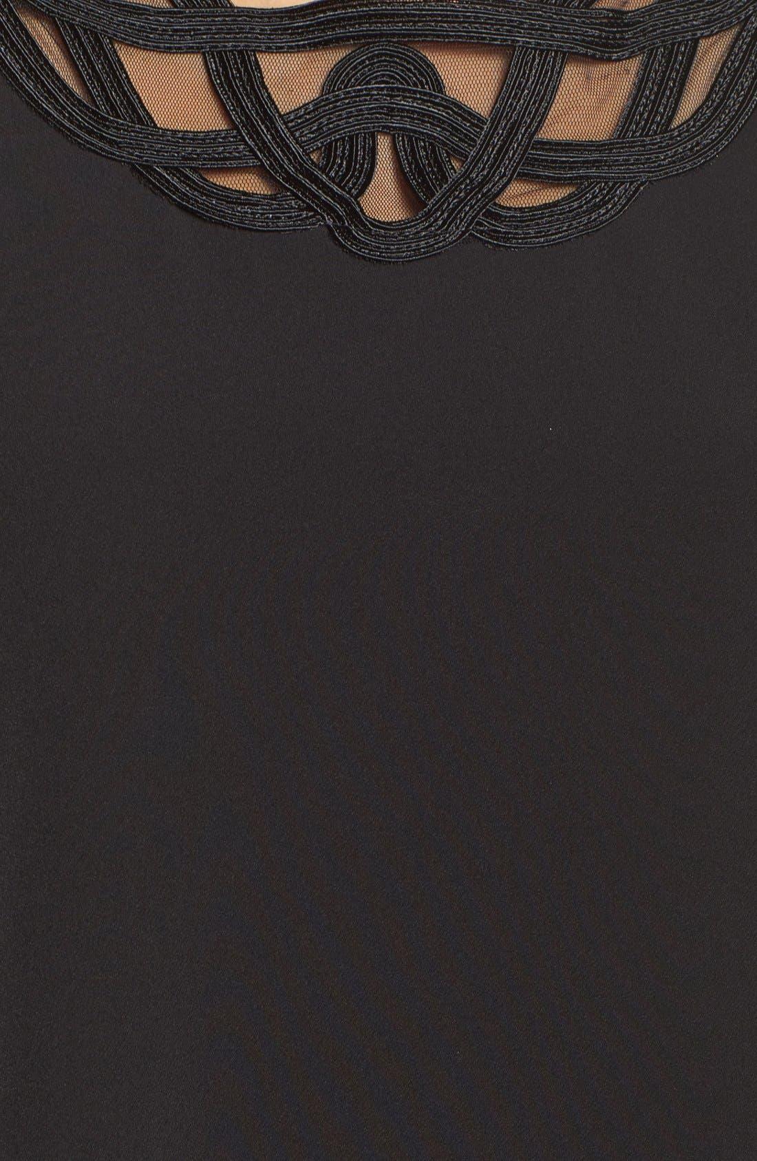 Alternate Image 5  - Laundry by Shelli Segal Scroll Neck Shift Dress