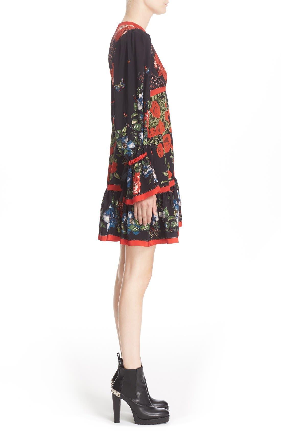 Alternate Image 4  - Alexander McQueen Floral Print Silk Dress