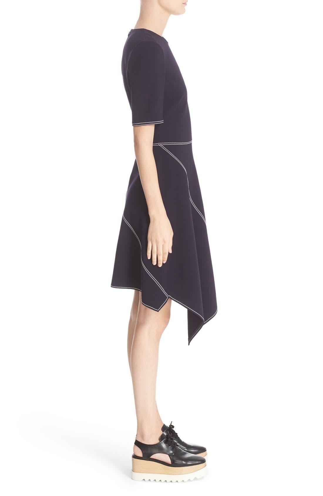 Alternate Image 5  - Stella McCartney Topstitch Asymmetrical Dress
