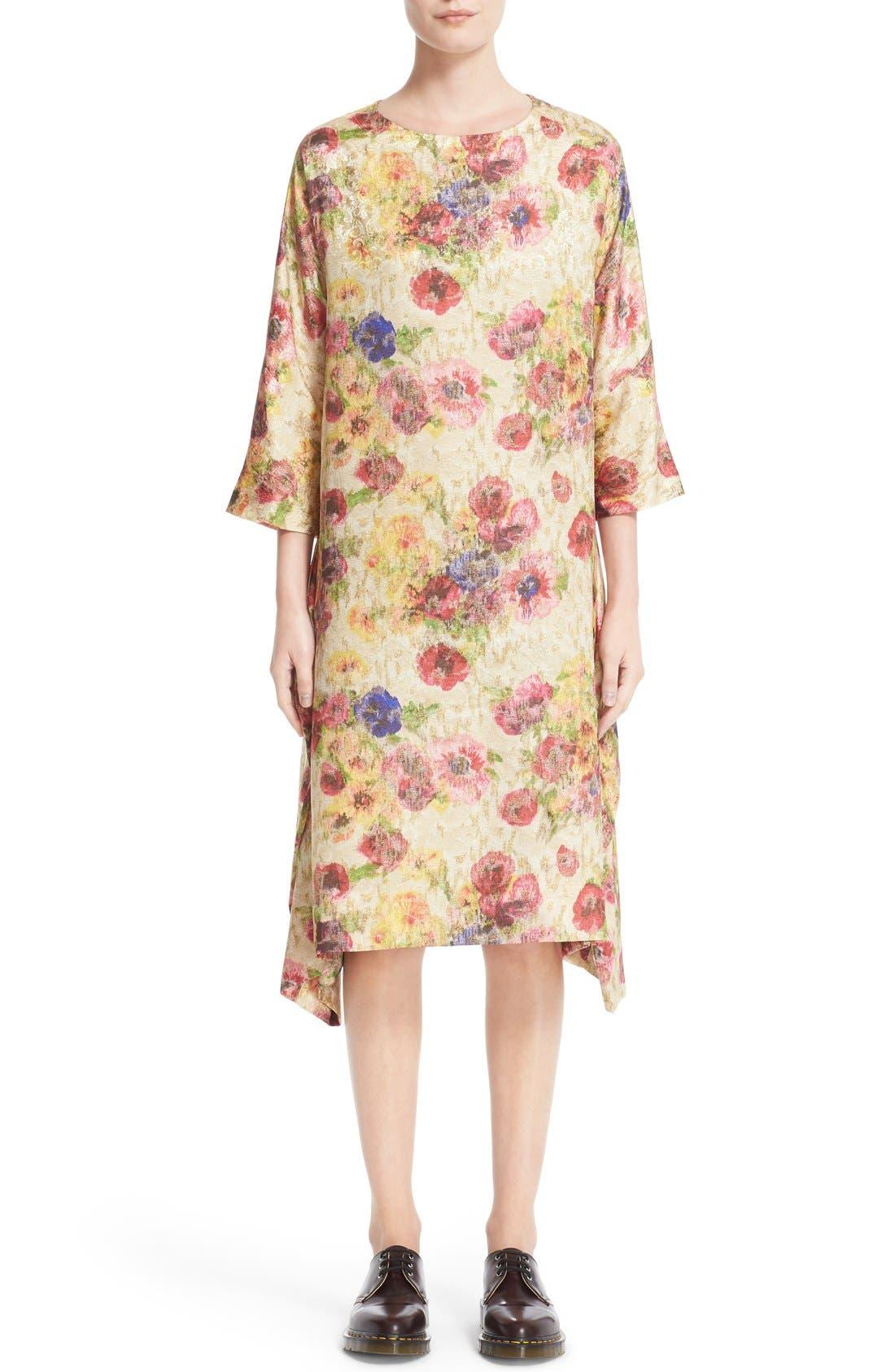 Alternate Image 1  - Comme des Garçons Floral Jacquard Shift Dress