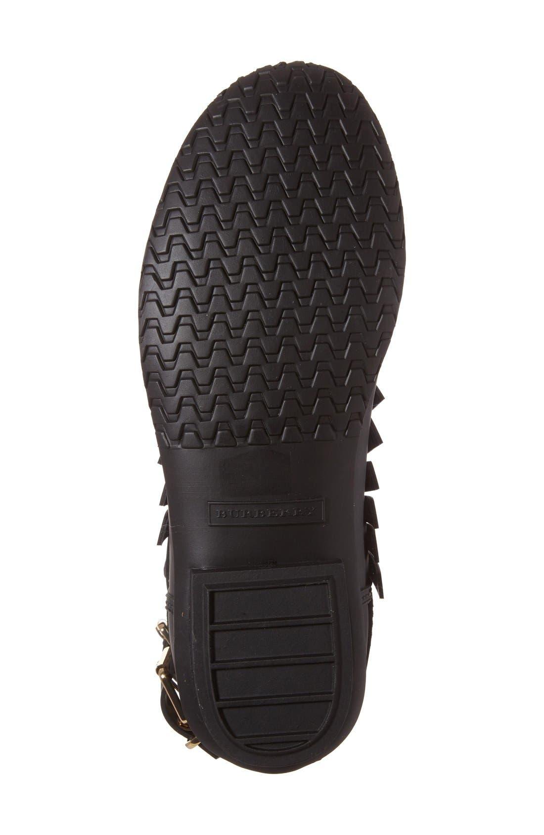 Alternate Image 4  - Burberry 'Fritton' Kiltie Rain Boot (Women)