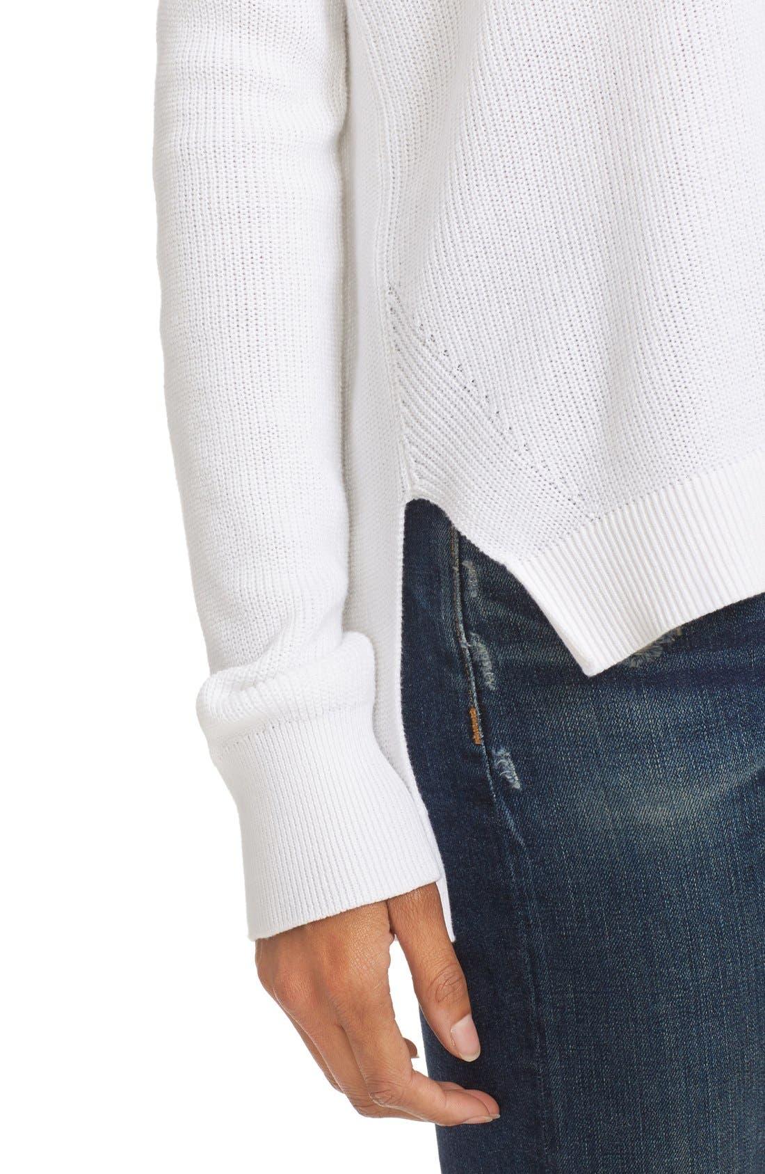 Alternate Image 4  - rag & bone/JEAN Taylor Washed Cotton Sweater