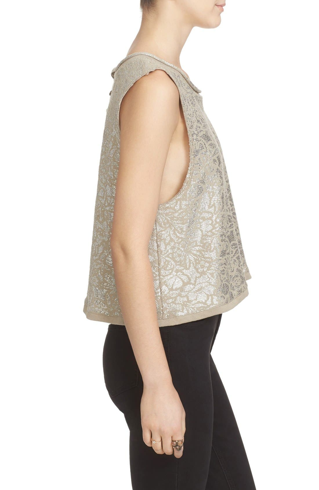 Alternate Image 4  - Free People Casual Fancy Metallic Top