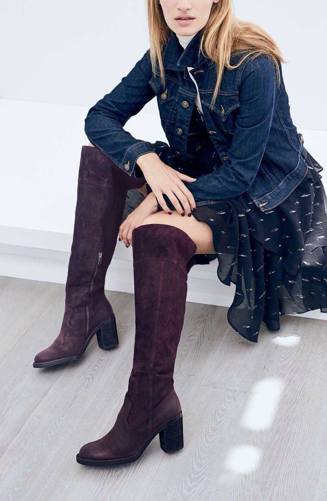 Alternate Image 5  - Børn 'Kathleen' Over the Knee Boot (Women)