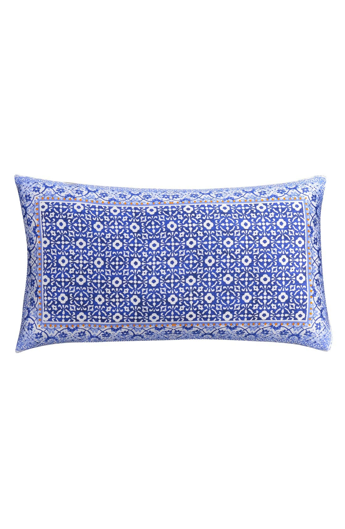 Alternate Image 1 Selected - cupcakes & cashmere Blue Frame Pillow