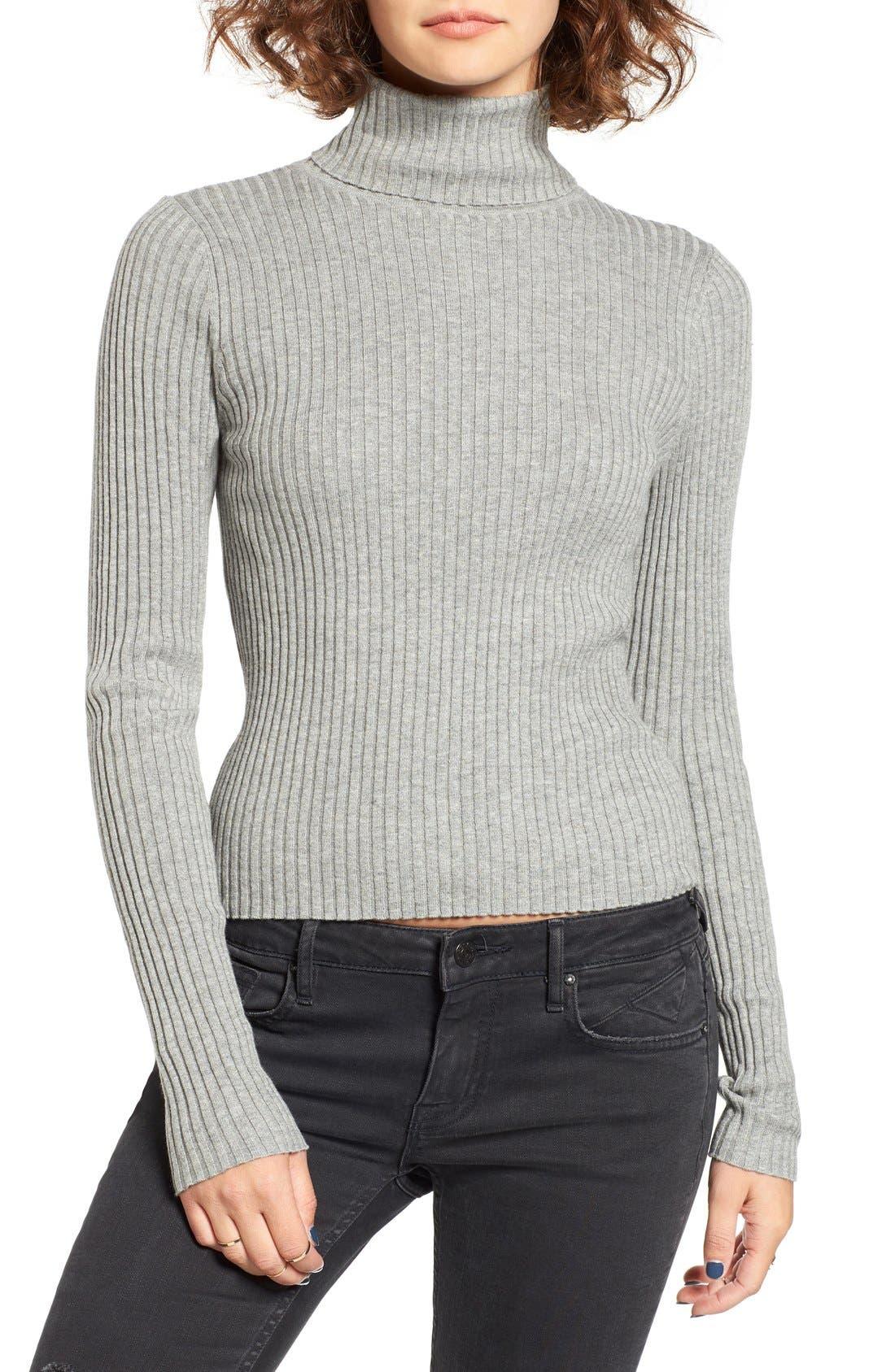 Alternate Image 1 Selected - BP. Rib Knit Turtleneck Sweater