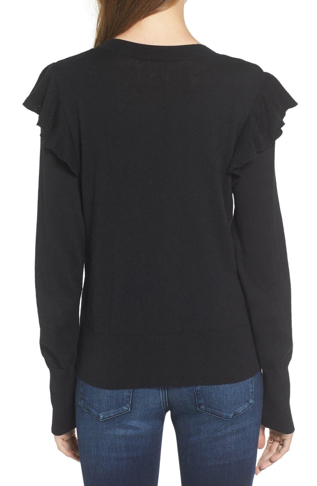 Alternate Image 2  - BP. Knit Ruffle Sleeve Pullover