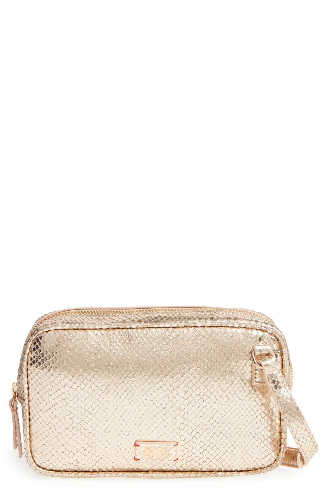 Frances Valentine 'Lucy' Metallic Leather Crossbody Bag