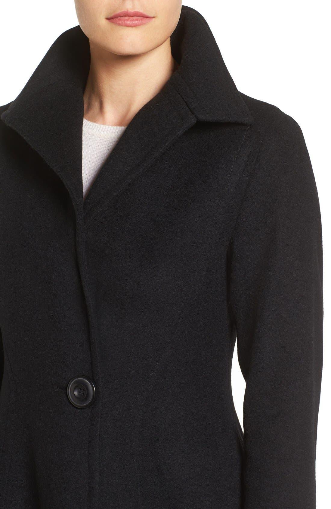 Alternate Image 4  - Vera Wang Isabella Skirted Wool Blend Coat