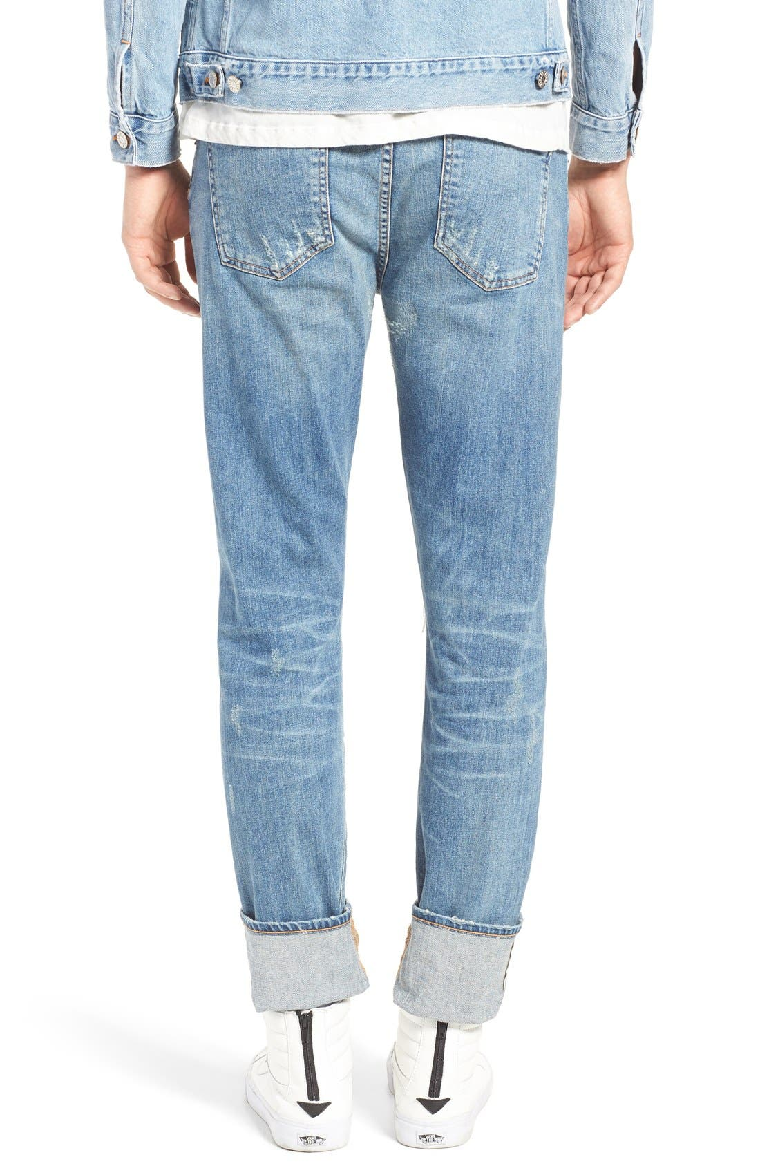 Alternate Image 4  - AGOLDE Skinny Fit Distressed Jeans (H-Town) (Men)