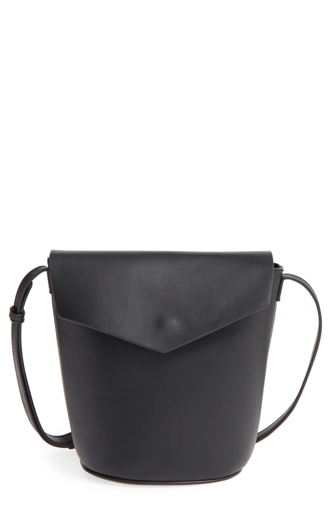 Alternate Image 1 Selected - Street Level Faux Leather Envelope Bucket Bag