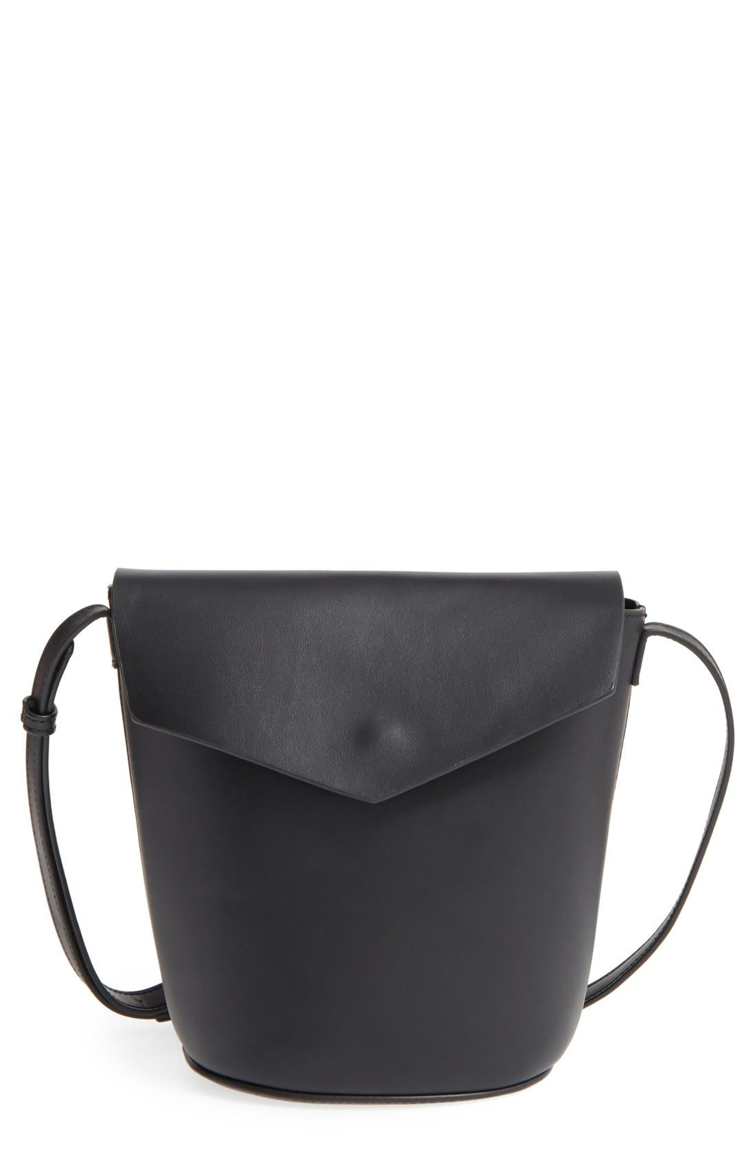 Main Image - Street Level Faux Leather Envelope Bucket Bag