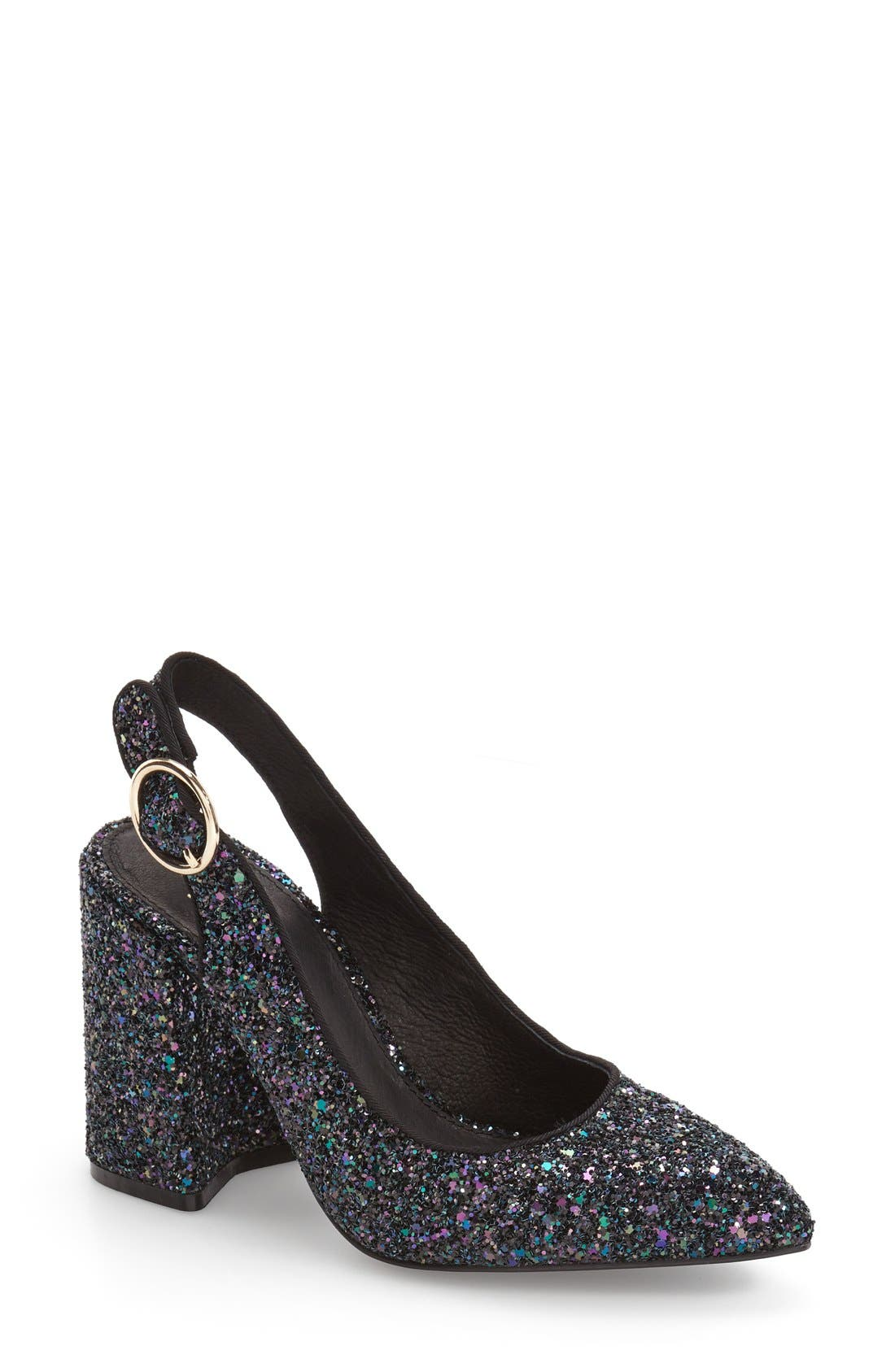 Shellys London 'Chester' Slingback Glitter Pump (Women)