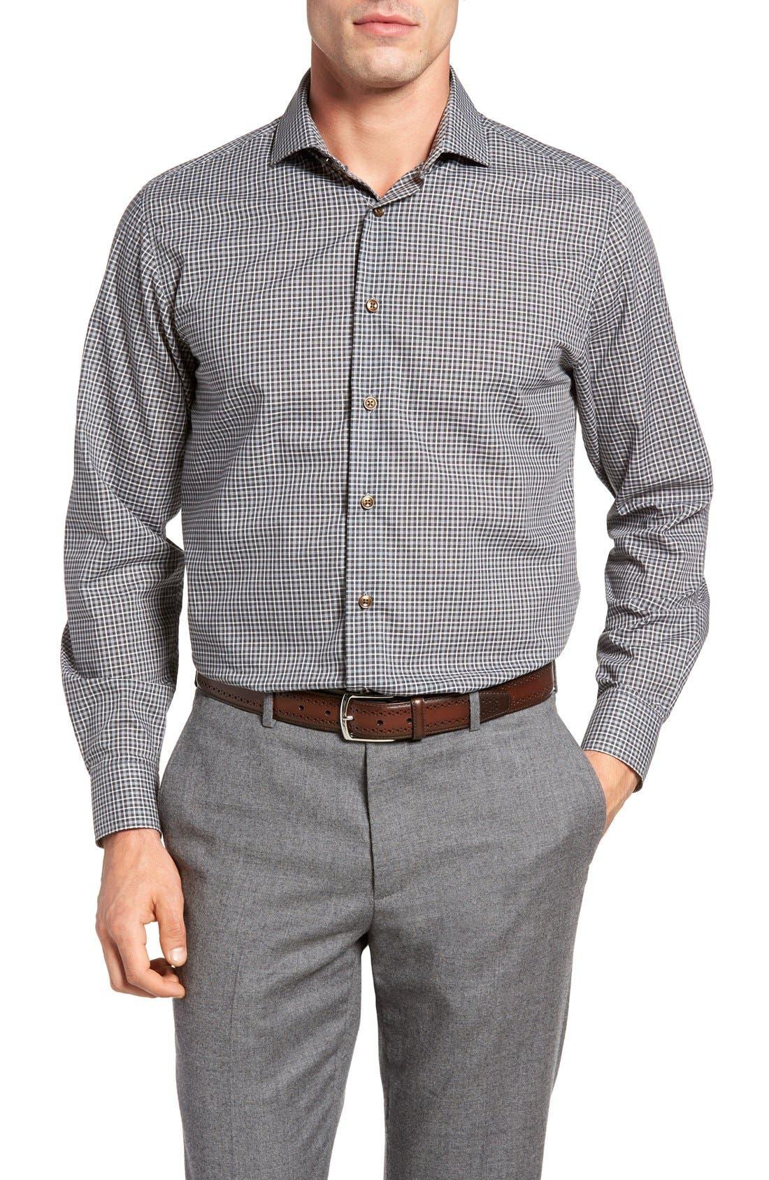 Thaddeus Frank05 Slim Fit Plaid Sport Shirt