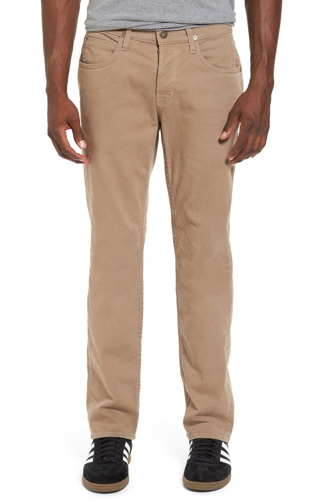 Hudson Byron Slim Straight Leg Jeans (Quicksand Khaki)