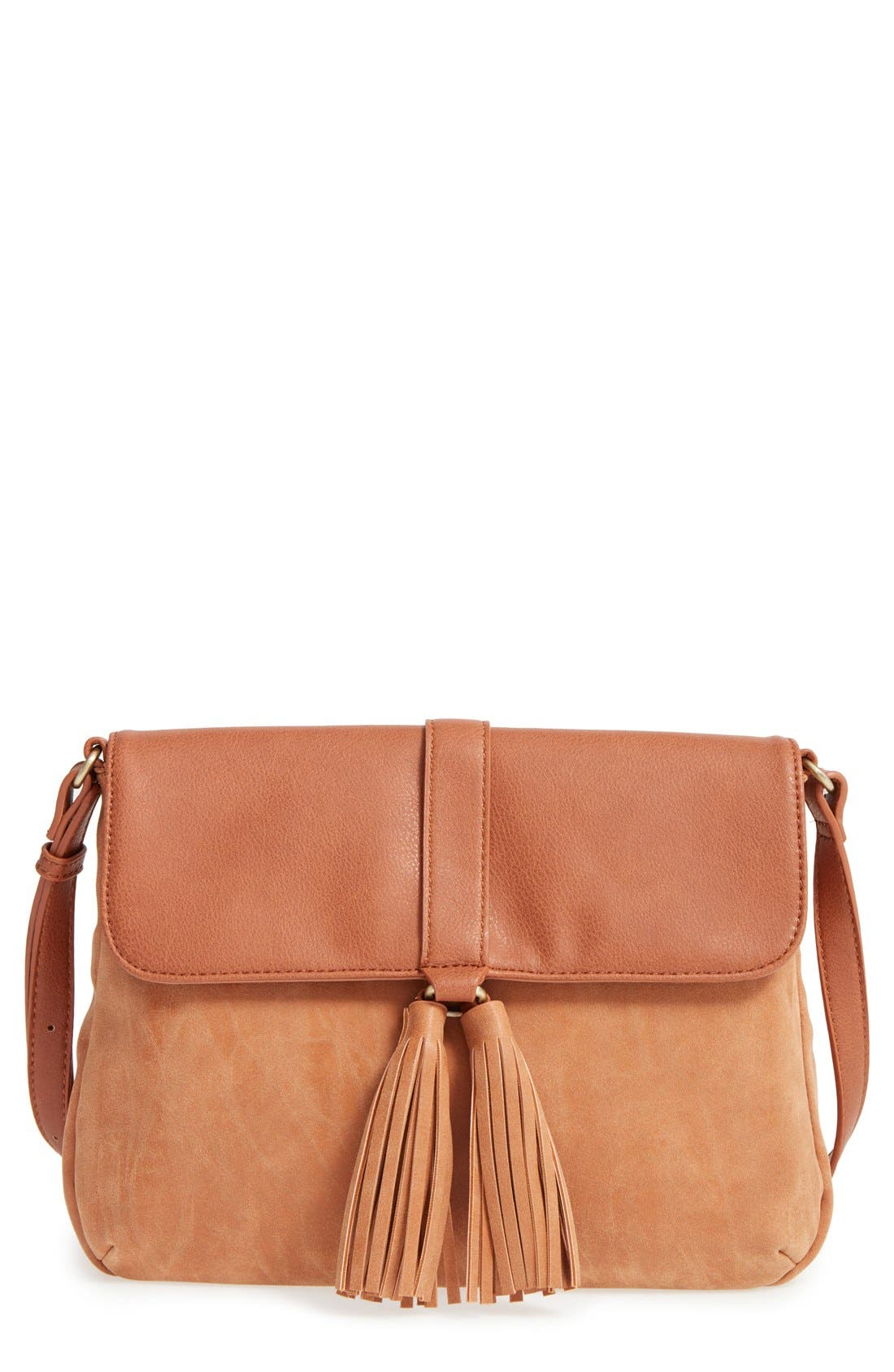 Alternate Image 1 Selected - Sole Society Faux Leather Crossbody Bag