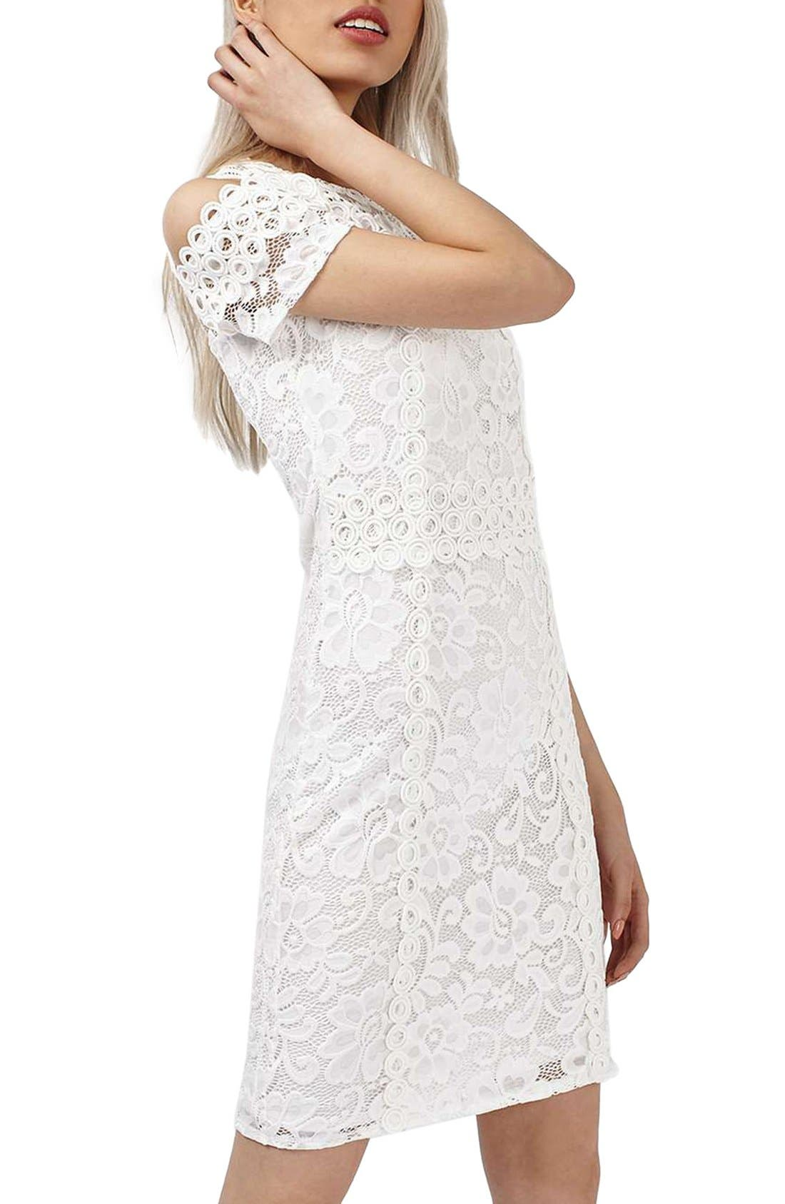 Alternate Image 3  - Topshop Cold Shoulder Lace Body-Con Dress