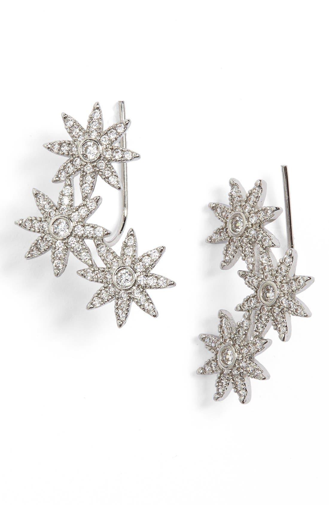Main Image - Sole Society Crystal Star Ear Crawlers