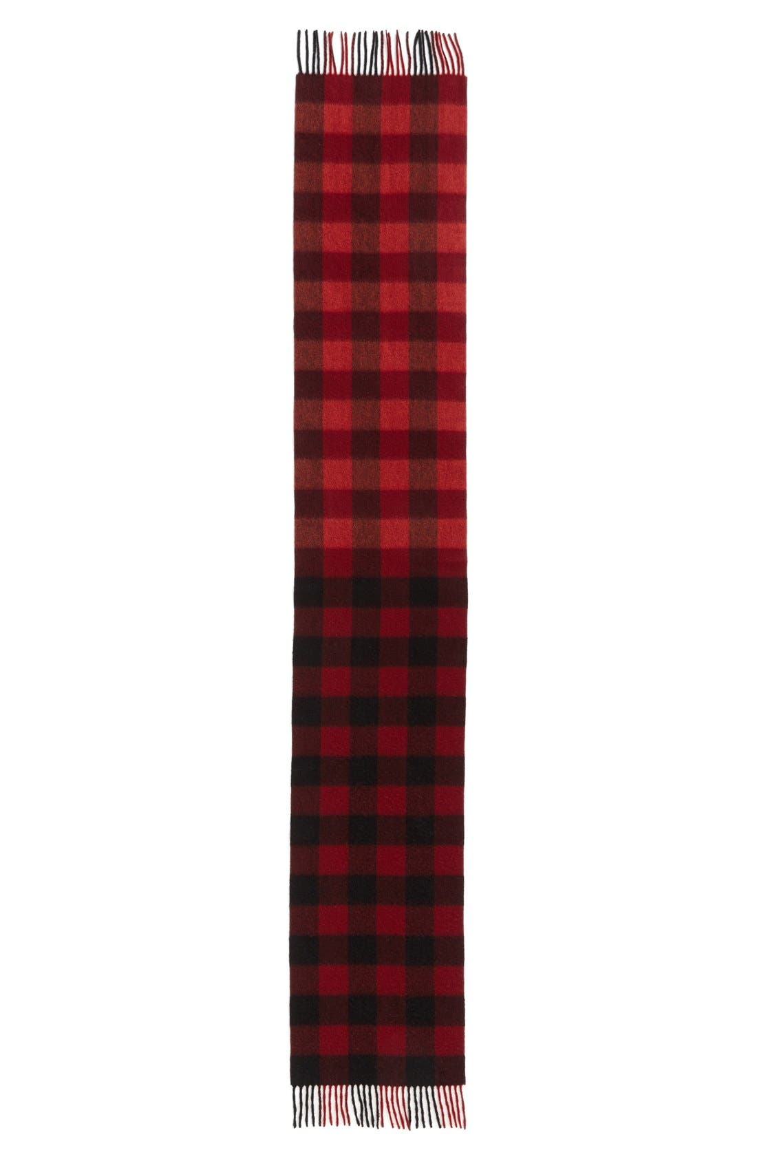 Alternate Image 3  - Nordstrom 'Blocked Checks' Cashmere Scarf
