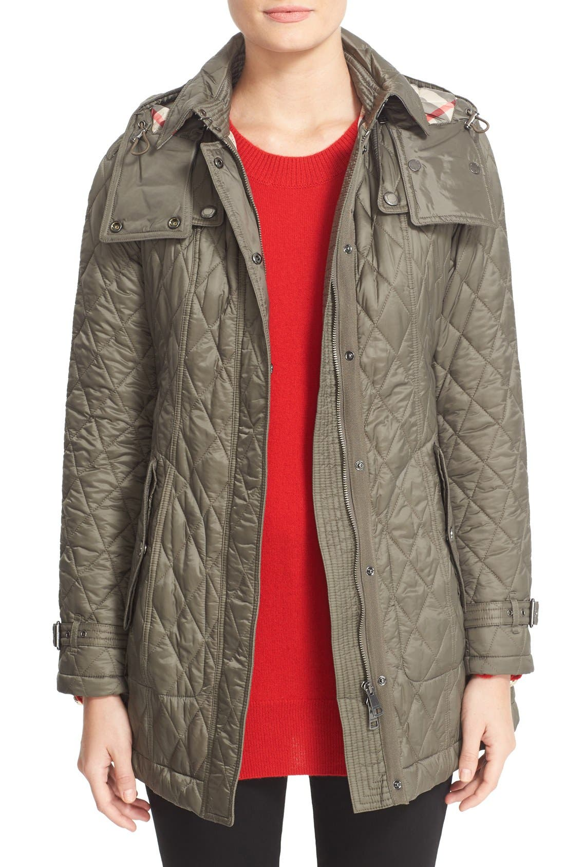 Alternate Image 1 Selected - Burberry Finsbridge Belted Quilted Jacket