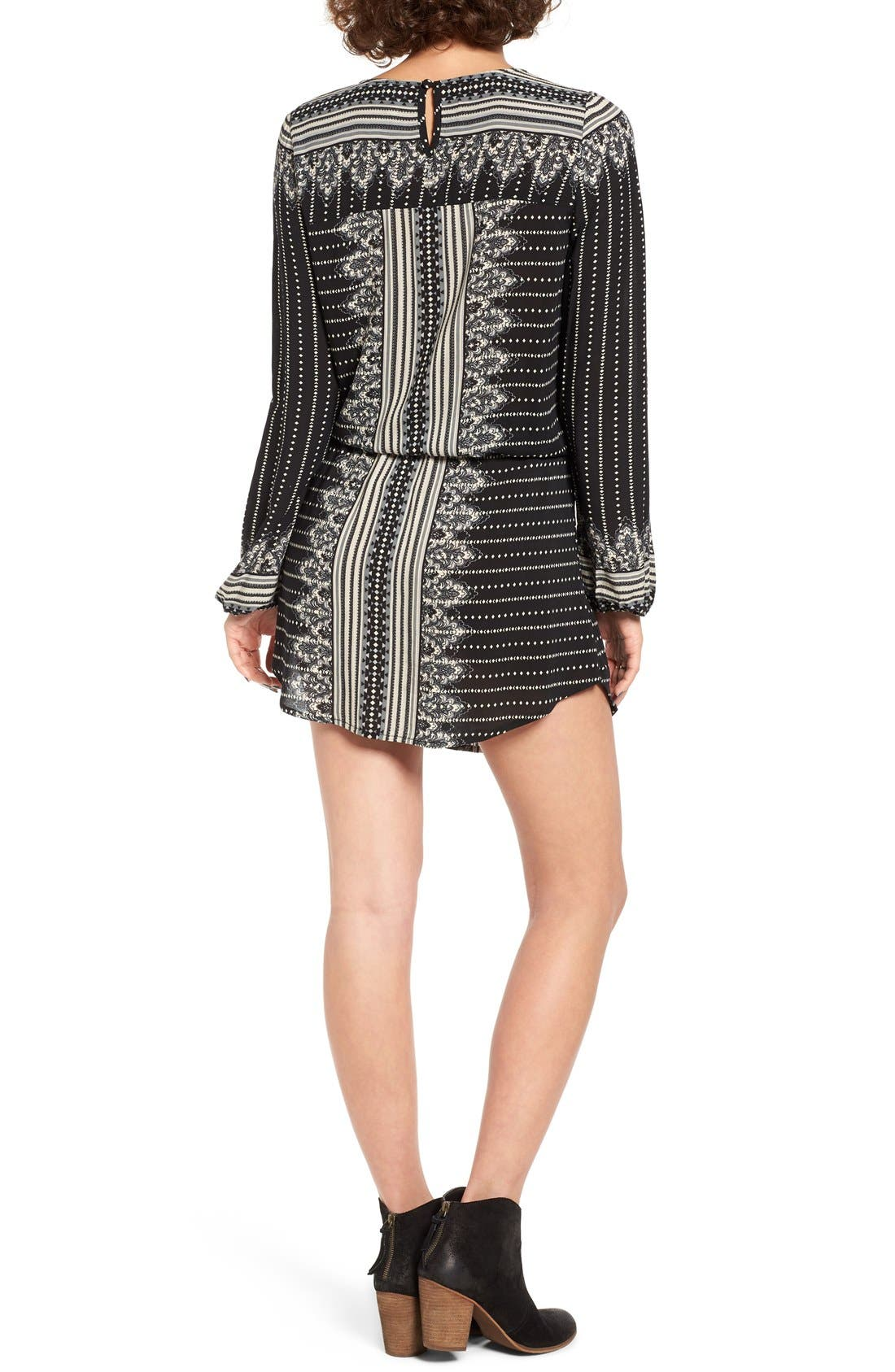Alternate Image 2  - Rip Curl Winter Bird Print Lace-Up Dress