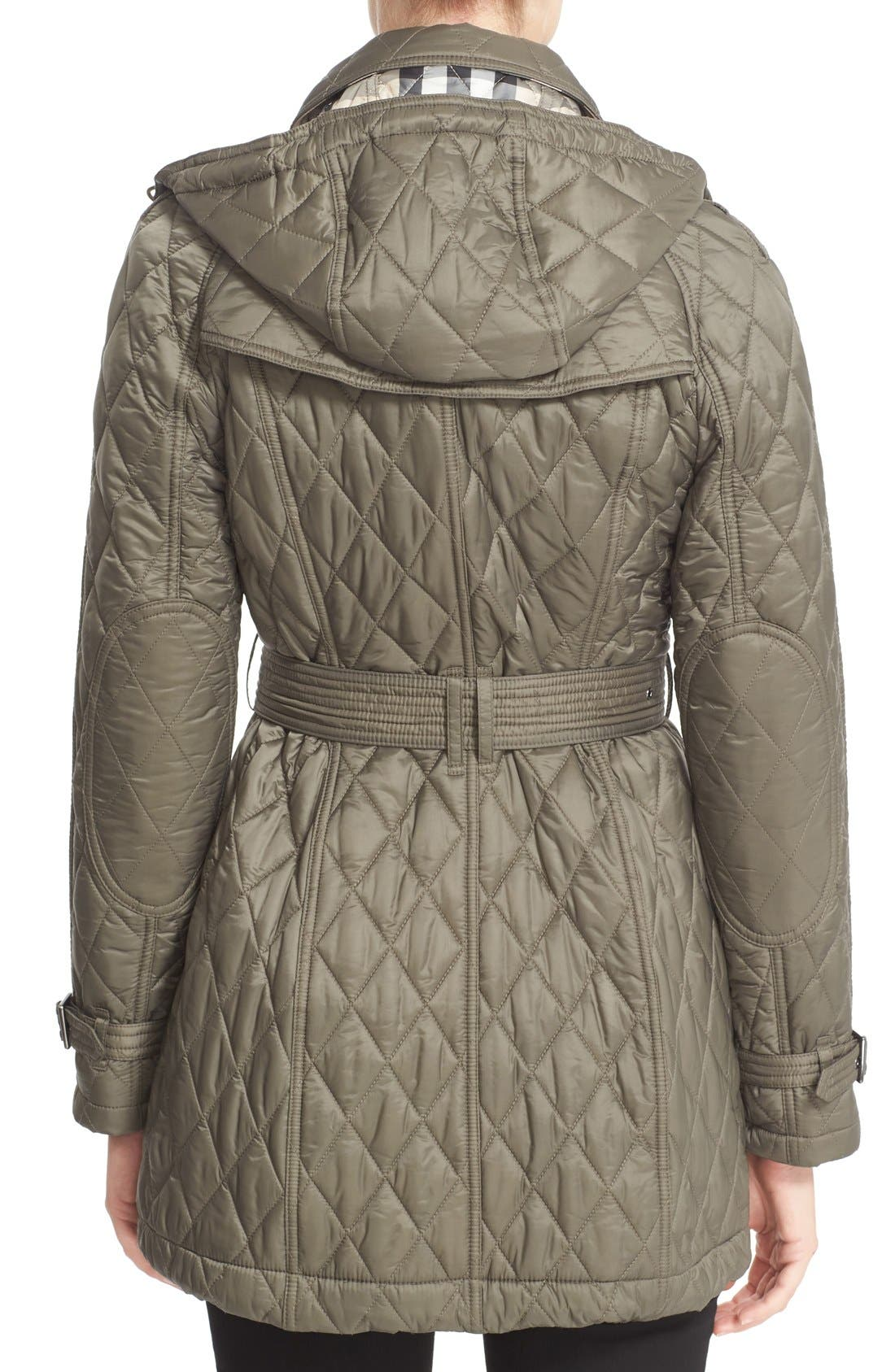 Alternate Image 2  - Burberry Finsbridge Belted Quilted Jacket