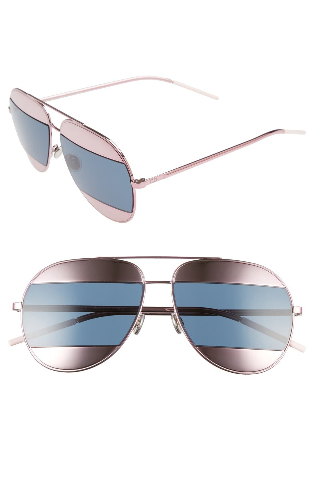 Dior Split 59mm Aviator Sunglasses