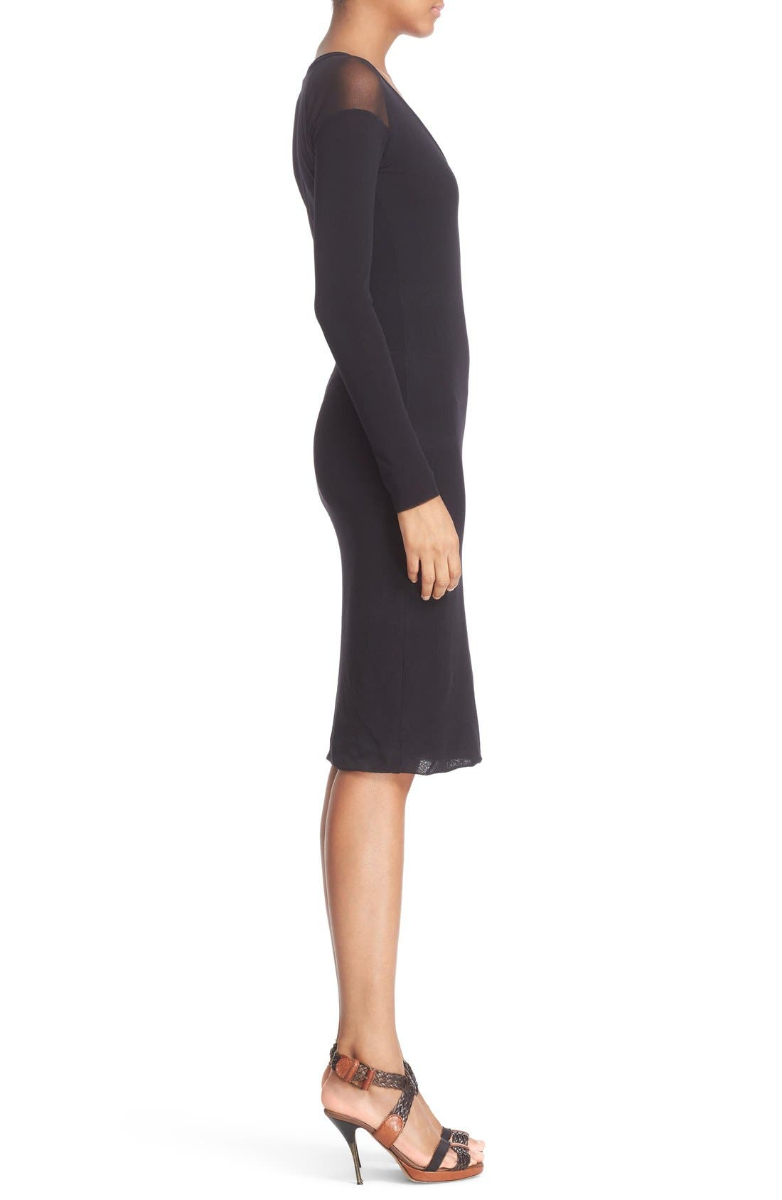 Alternate Image 5  - Fuzzi Illusion Cold Shoulder Sheath Dress