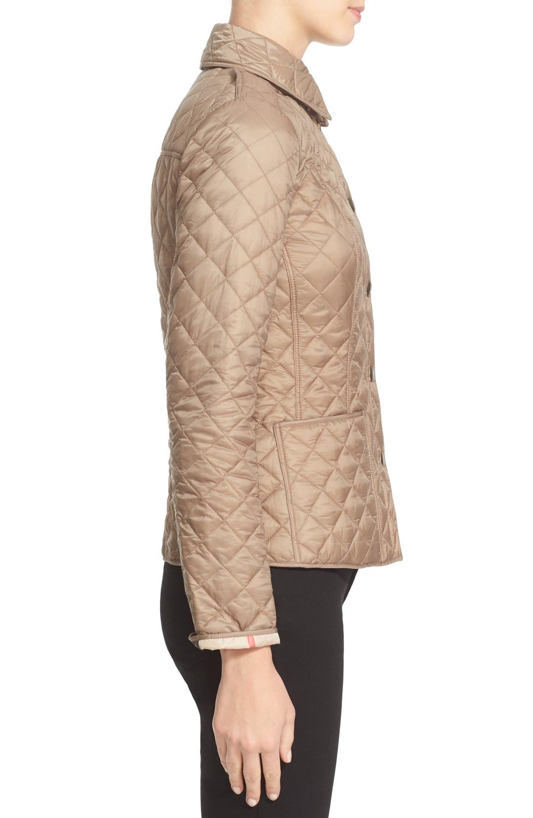 Alternate Image 5  - Burberry Brit 'Kencott' Patch Pocket Quilted Coat