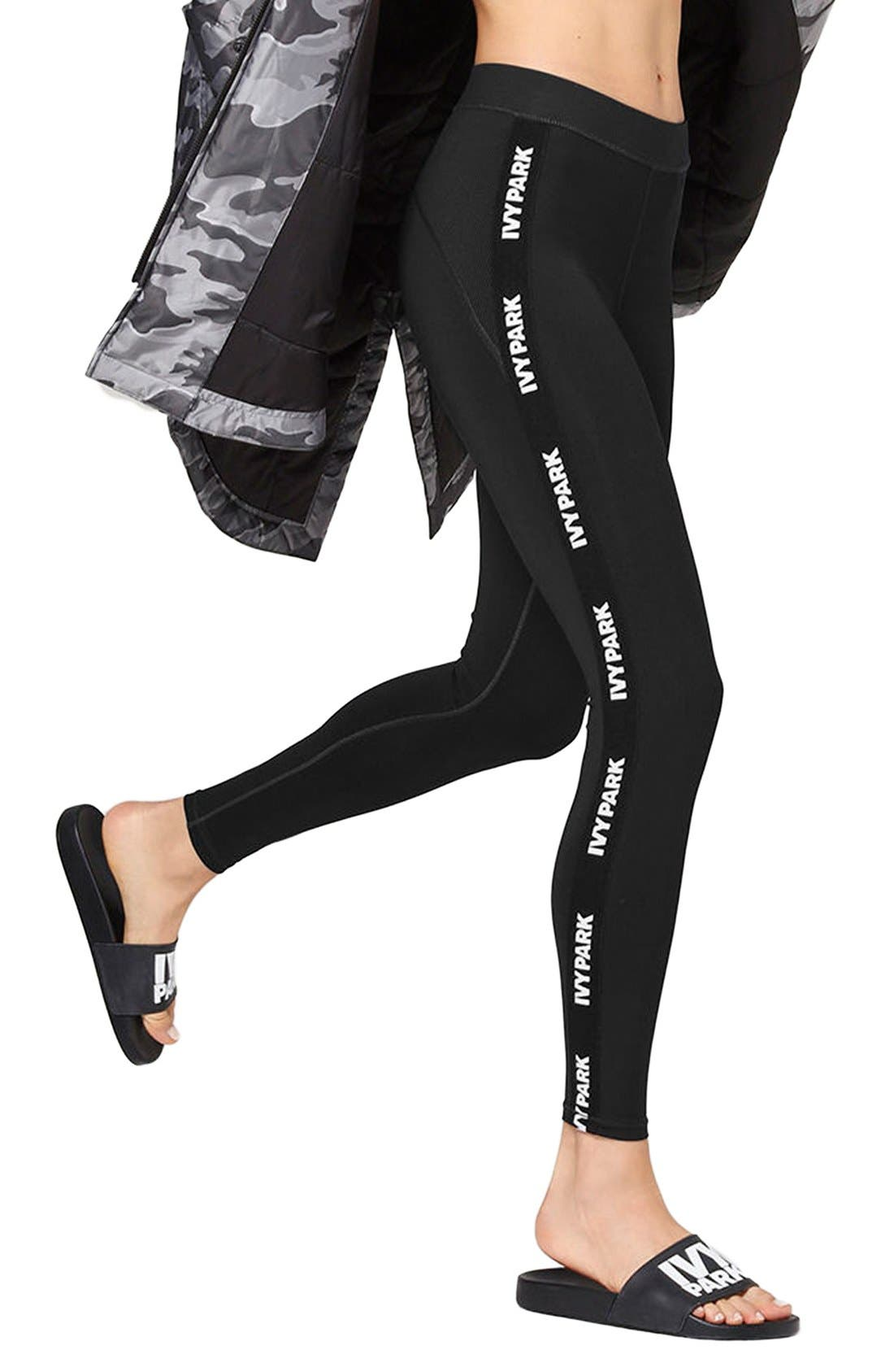 Alternate Image 1 Selected - IVY PARK® Elastic Logo Mid Rise Leggings