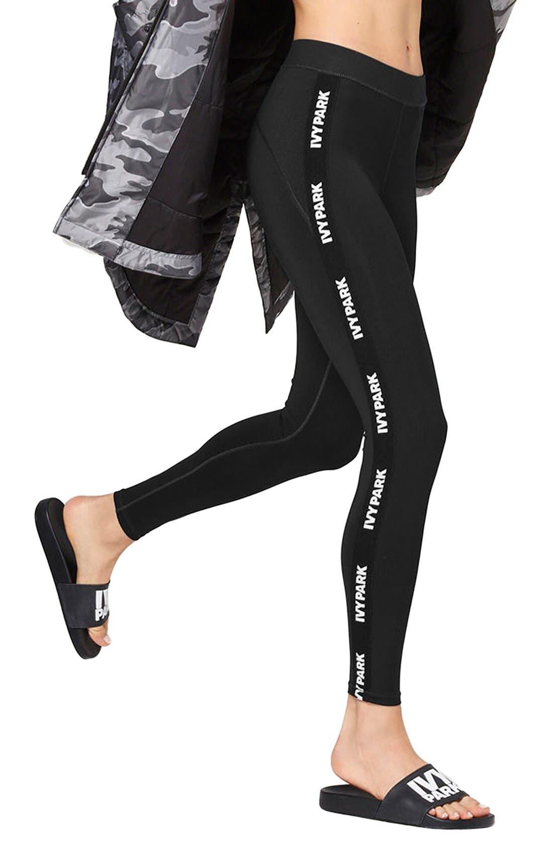Main Image - IVY PARK® Elastic Logo Mid Rise Leggings