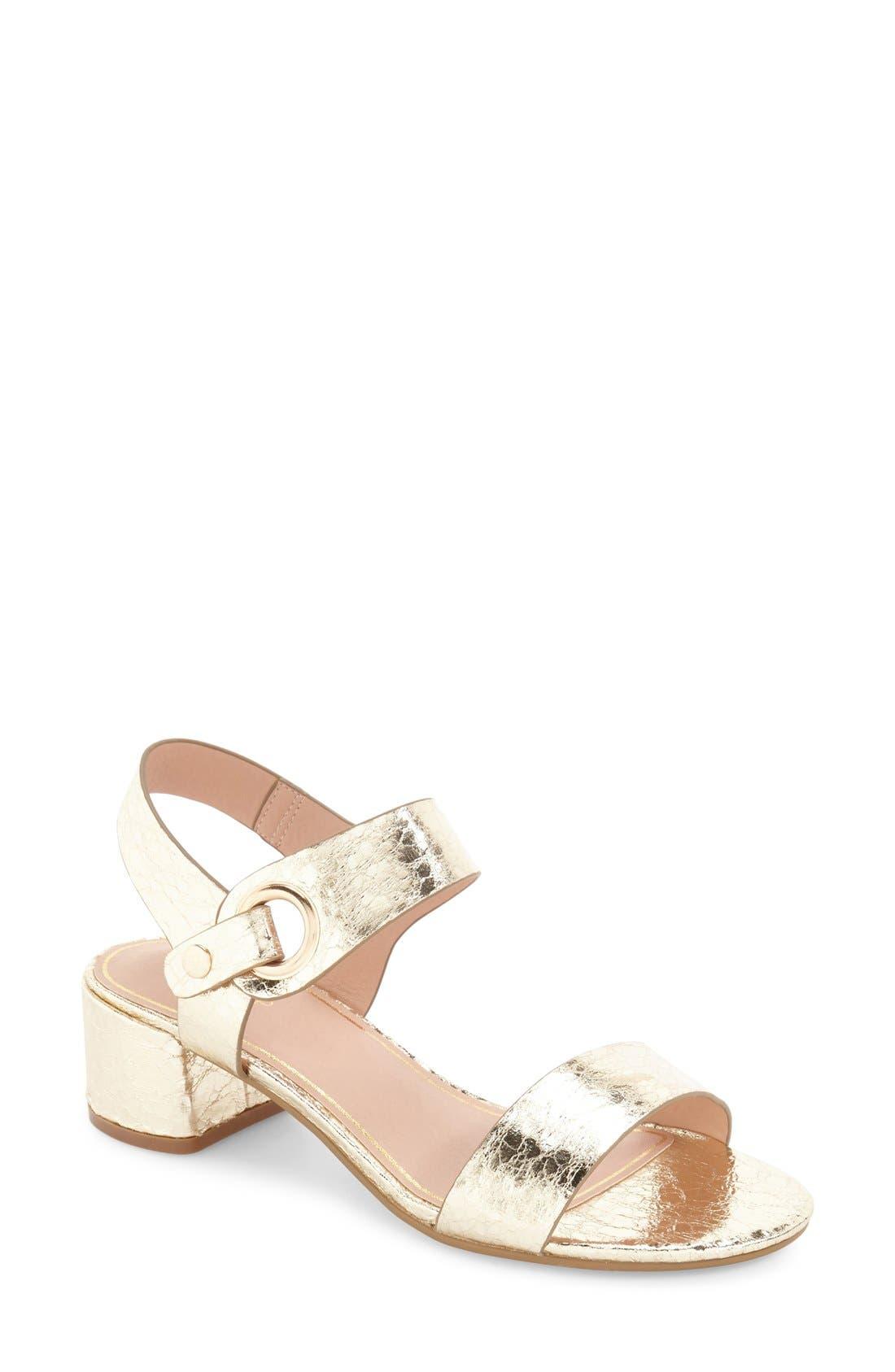 Alternate Image 1 Selected - Topshop 'Dart' Block Heel Sandal (Women)
