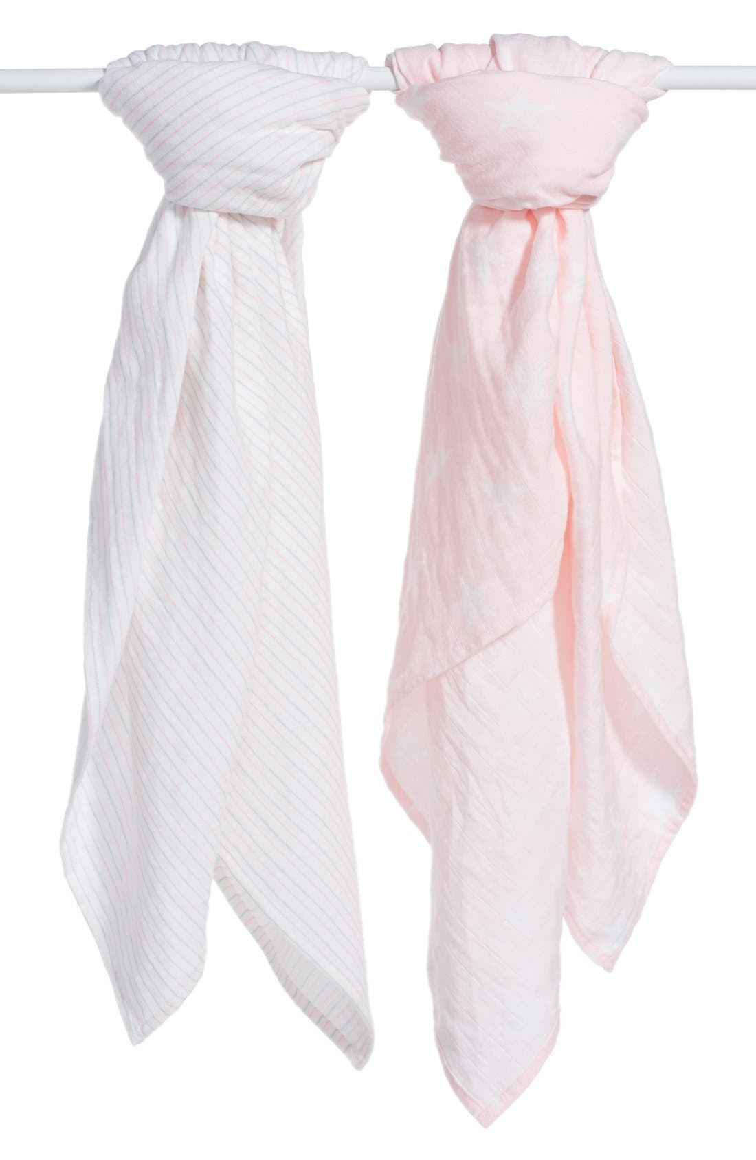 ADEN + ANAIS 2-Pack Flannel & Muslin Swaddling