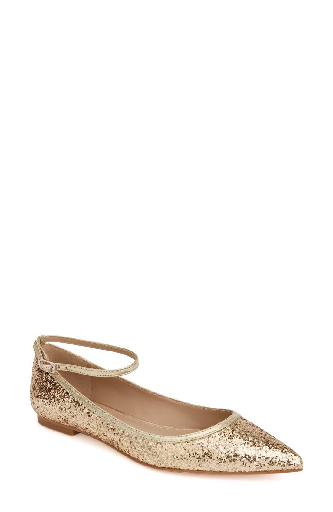 Shoes of Prey x Megan Hess Fleur-de-lis Collection Sparkle Flat (Women)
