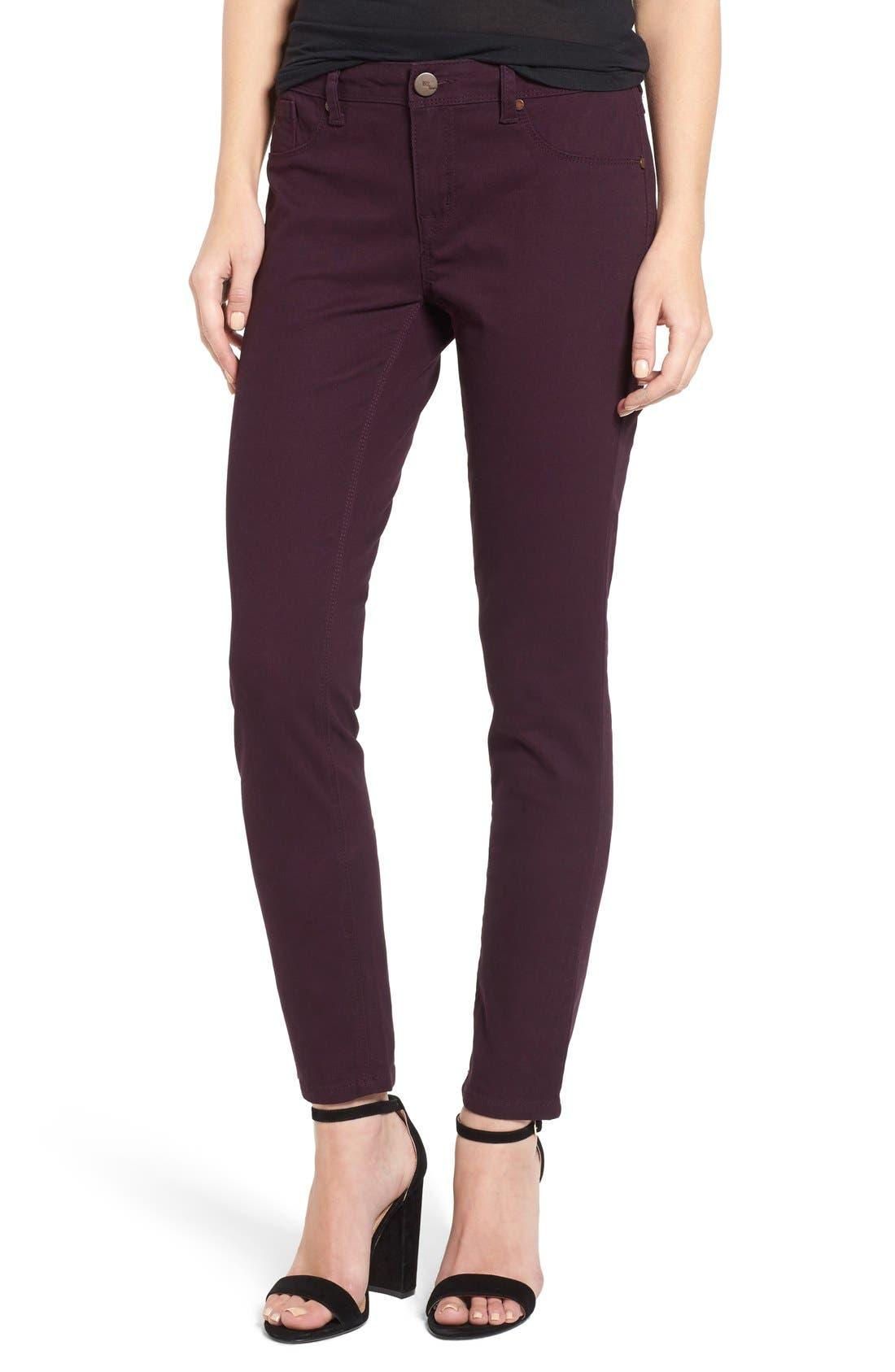 1822 Denim Skinny Jeans (Purple Pennant)