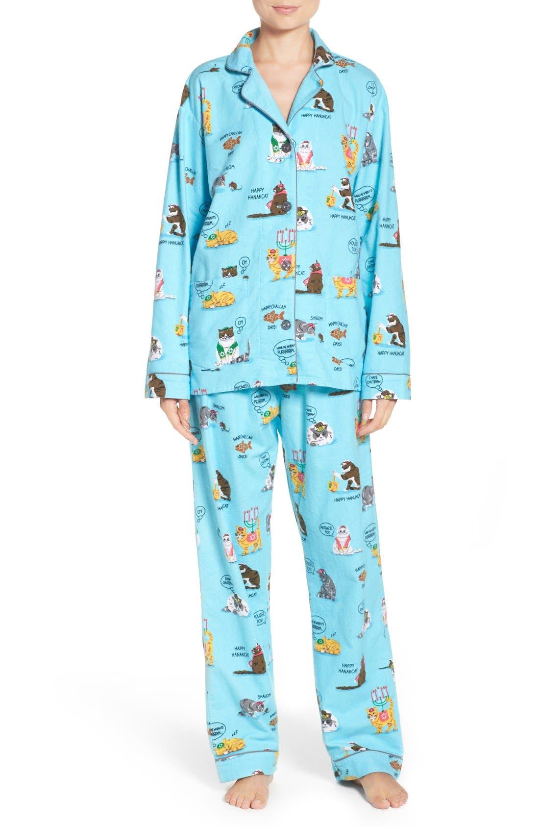 Alternate Image 1 Selected - PJ Salvage Print Flannel Pajamas