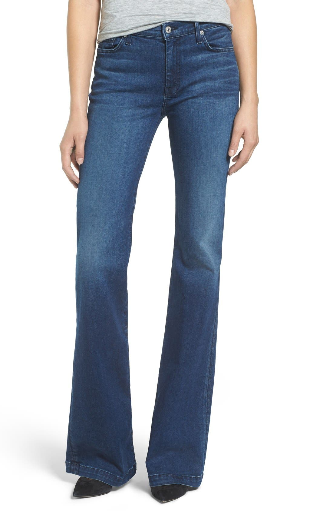 Main Image - 7 For All Mankind Tailorless Dojo Flare Jeans (Slim Illusion Luxe Luminous)