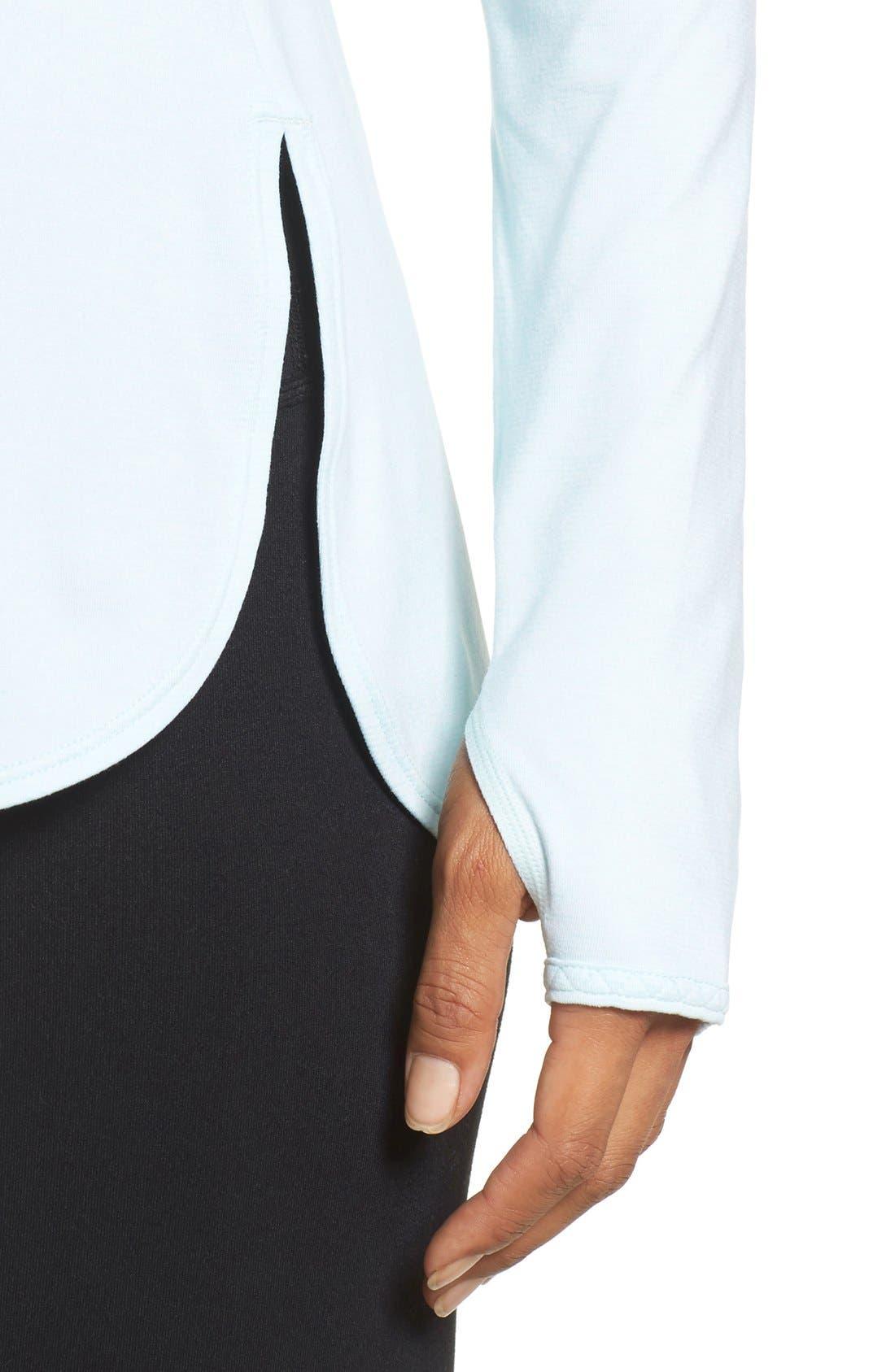 Alternate Image 4  - Zella 'Rejuvenate' Keyhole Long Sleeve Tee