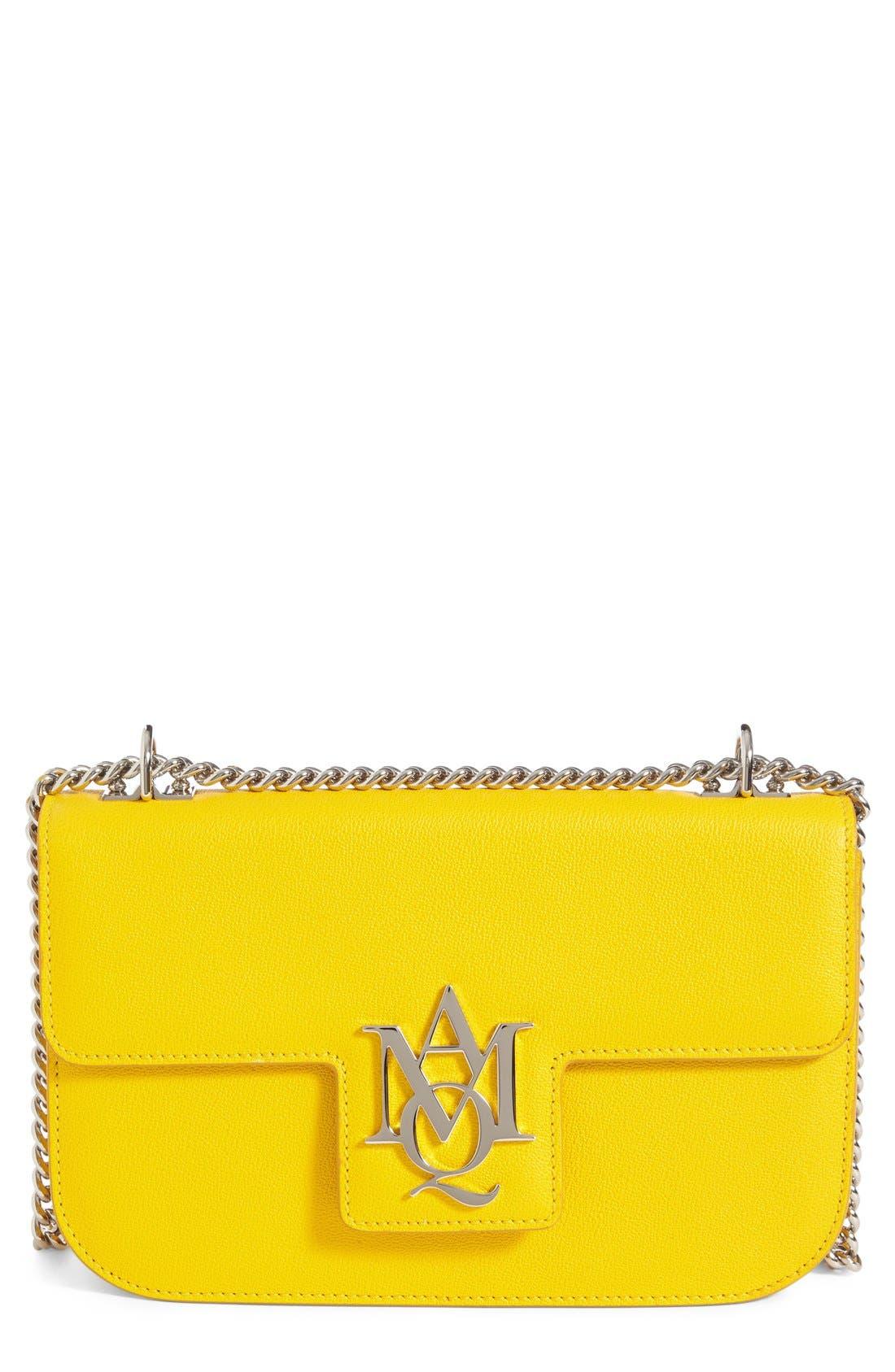 Alternate Image 1 Selected - Alexander McQueen 'Medium Insignia Chain' Calfskin Leather Satchel