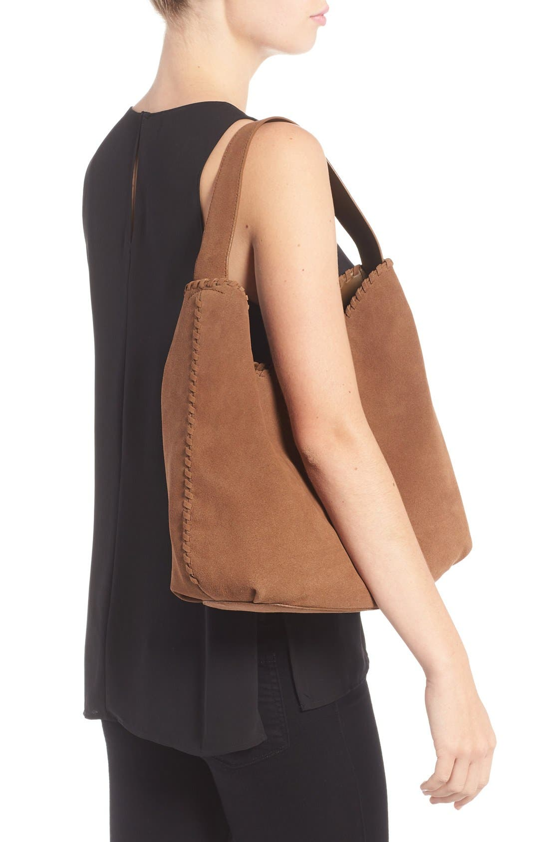 Alternate Image 2  - Tory Burch 'Marion' Suede Hobo