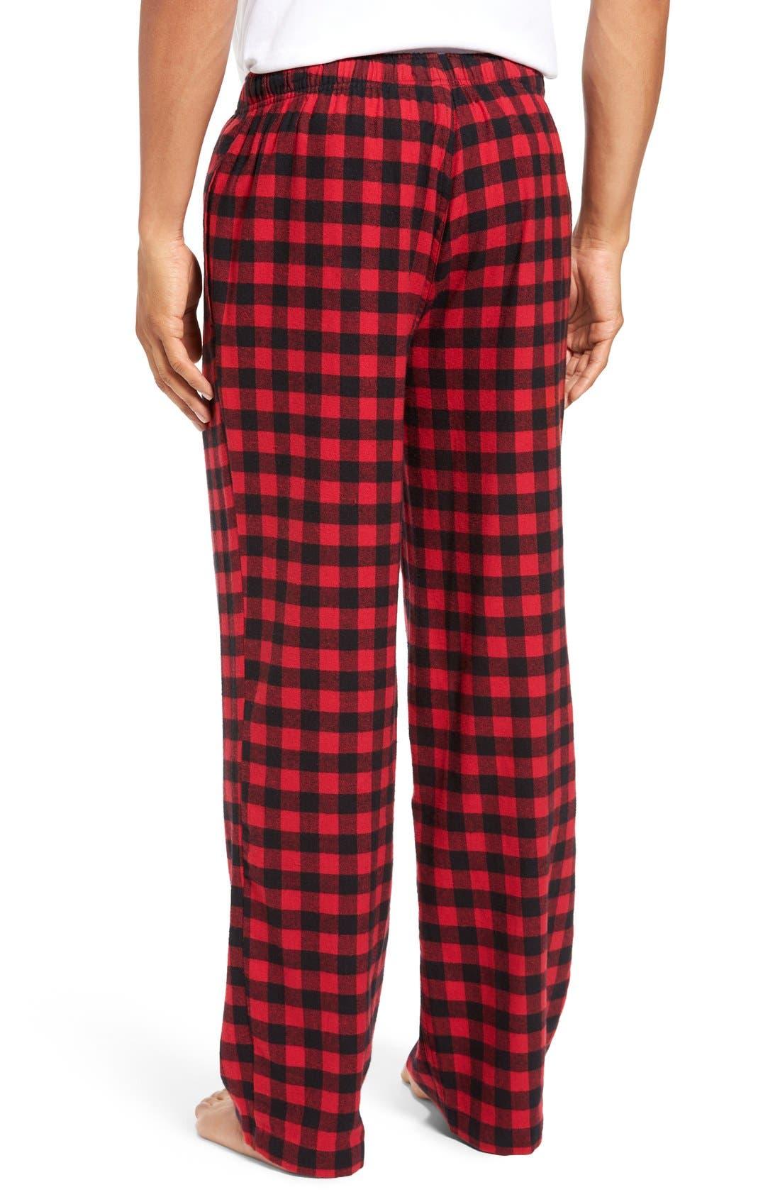 Alternate Image 2  - Nordstrom Men's Shop Flannel Lounge Pants