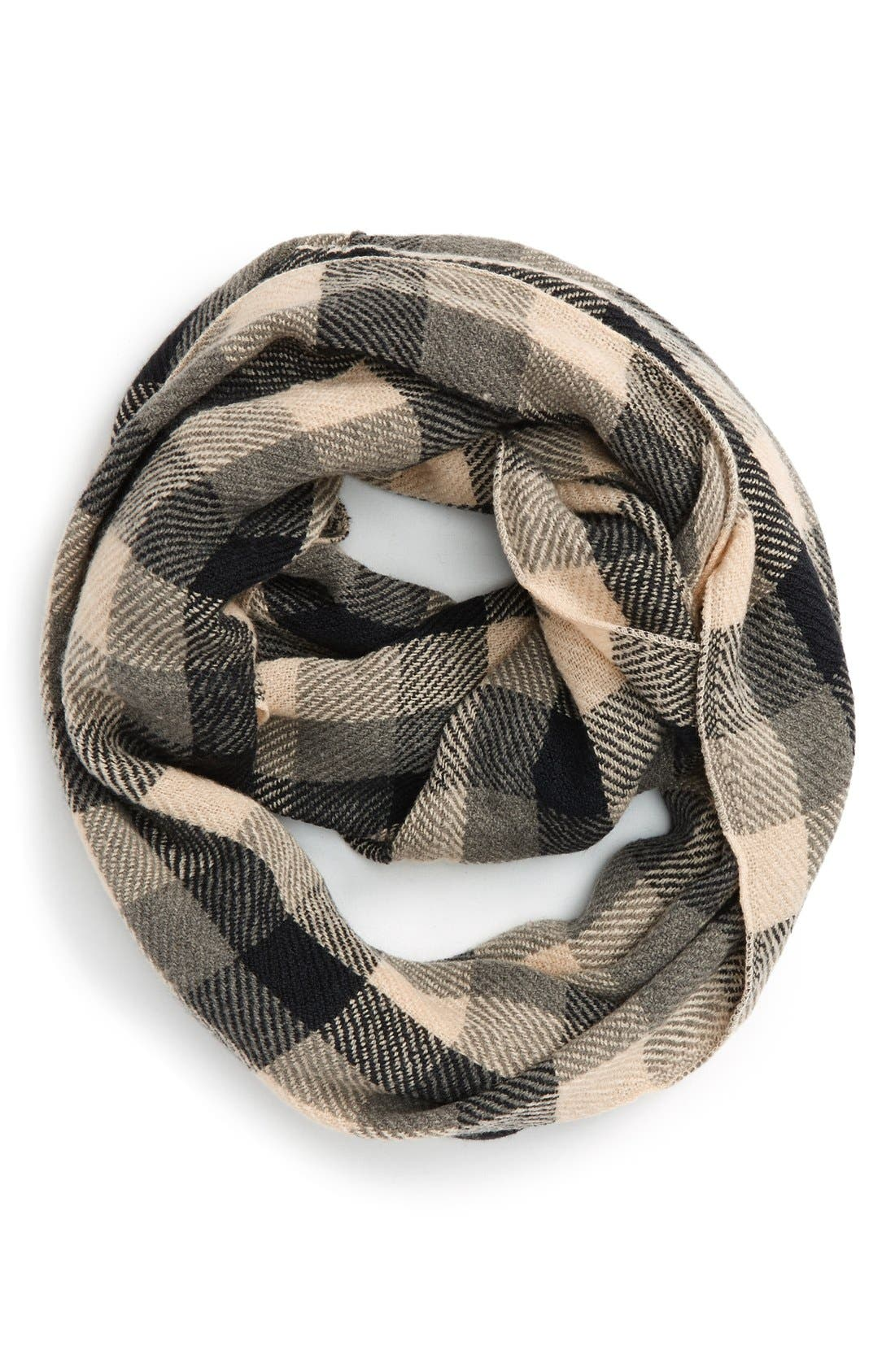 Alternate Image 1 Selected - Girly Buffalo Check Infinity Scarf