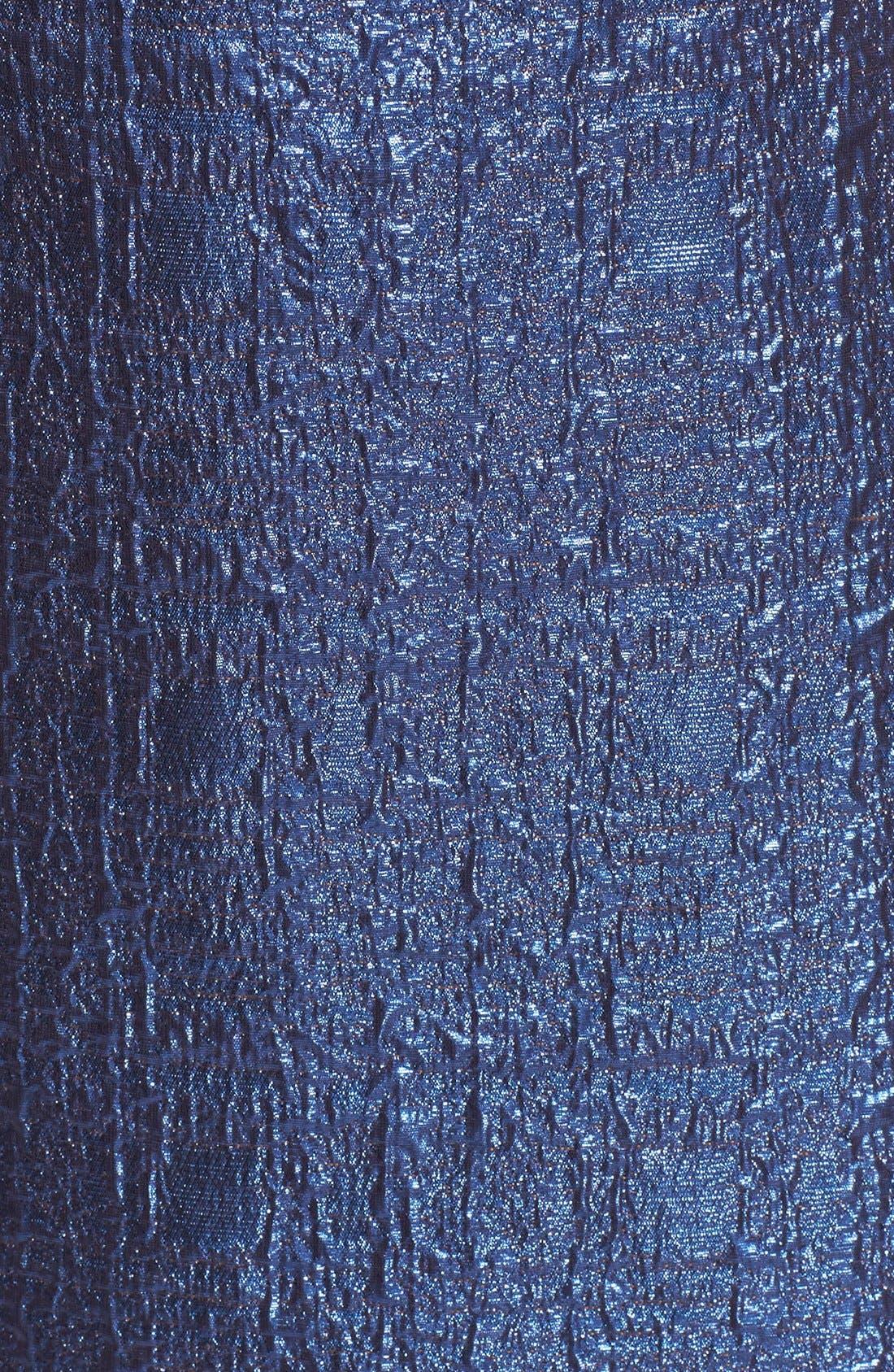 Alternate Image 5  - Milly Metallic Jacquard A-Line Dress