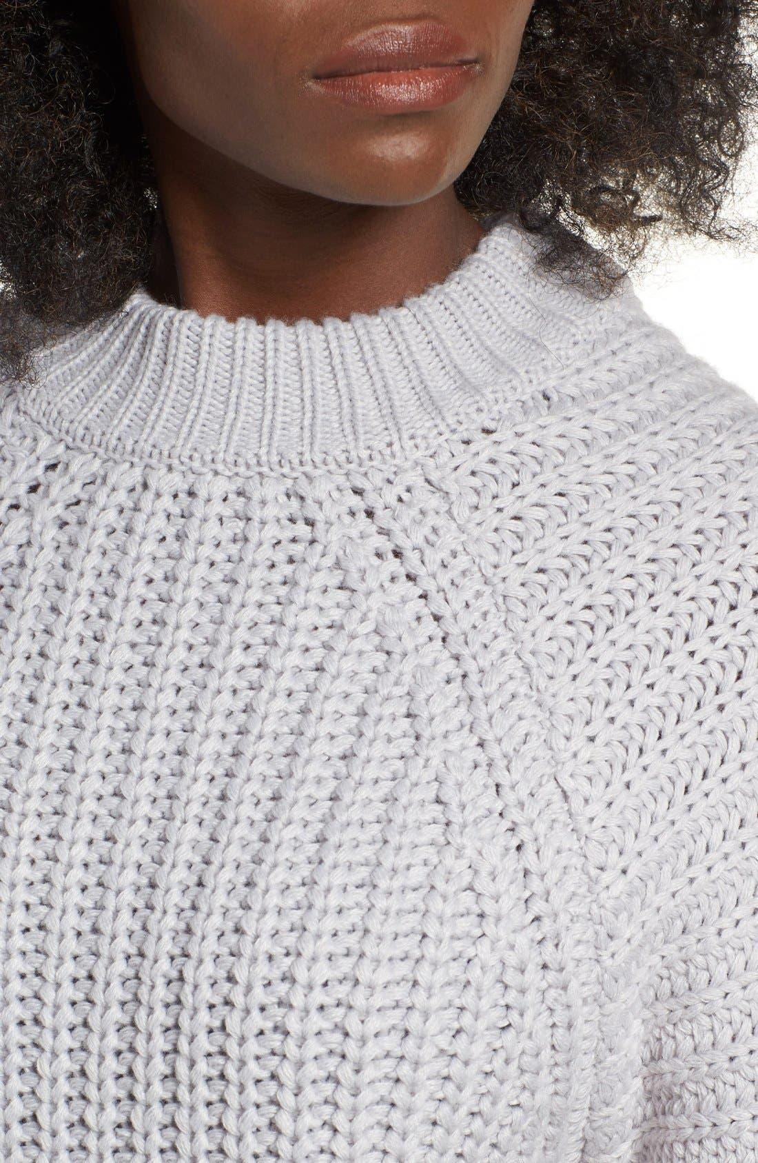 Alternate Image 4  - J.O.A. Rib Knit Sweater