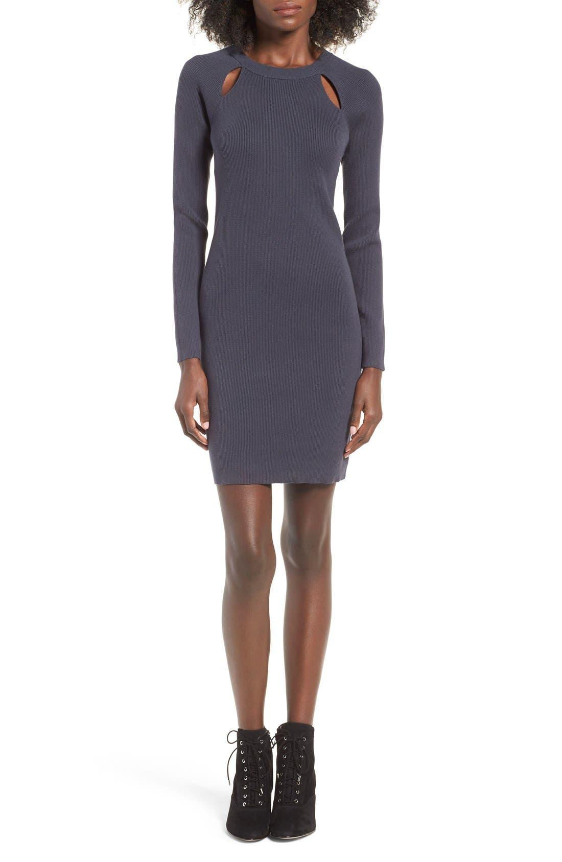 Alternate Image 1 Selected - BP. Cutout Sweater Dress